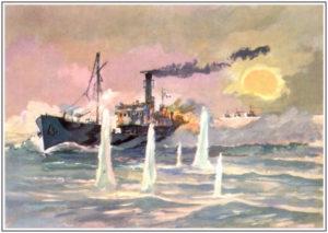 П.П. Павлинов Бой сторожевого корабля Туман с эсминцами противника